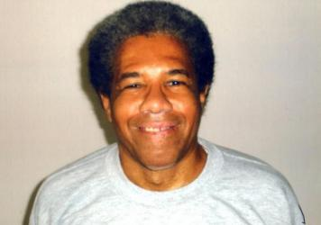 Albert Woodfox, shown in an undated prison photo. Prosecutors want to keep the former Black Panther leader behind bars as he awaits a third trial in the 1972 murder of Brent Miller, a 23-year-old guard at the Louisiana State Penitentiary in Angola.