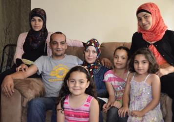 Mohammad and Linda Jomaa al-Halabi, along with their five daughters, are among the fewer than 1,000 Syrian refugees who have been resettled in the U.S. They left Syria in August 2012 and arrived last year in Baltimore, where they live now.