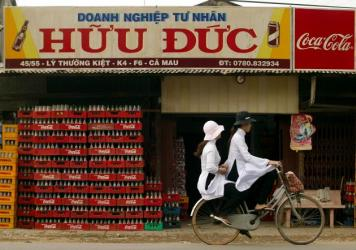 Vietnam is seeing an increase in soda drinking.