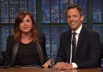 """Amy Poehler and Seth Meyers took turns responding to a tweet that dismissed women's sports as """"not worth watching."""""""