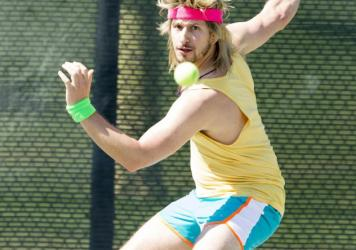 Andy Samberg as Aaron Williams in <em>7 Days In Hell</em>.