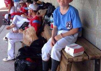 Kaiser Carlile, 9, the bat boy for a summer-league team in Kansas, died Sunday after being injured in a game Saturday.