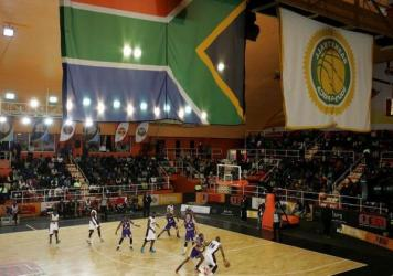 The night before the NBA exhibition game, two South African teams faced off in Johannesburg. Hoops aren't exactly a huge draw in the soccer-loving country. Attendance was about 1,000.