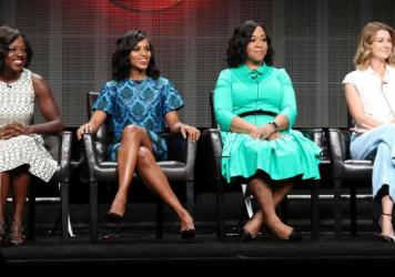 Viola Davis, Kerry Washington, Shonda Rhimes and Ellen Pompeo at the ABC panel discussion during the 2015 Summer TCA Tour.
