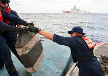 More than 16,000 pounds of cocaine were initially discovered aboard the drug boat. However 4,000 pounds were lost as the Coast Guard attempted to tow the vessel to shore.