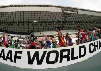 Competitors race at the IAAF World Athletics Championship held in Osaka in 2007. Athletes' samples that were kept from the event have now been retested, resulting in suspensions, the IAAF says.