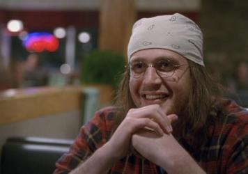 Jason Segel as David Foster Wallace in <em>The End Of The Tour</em>.