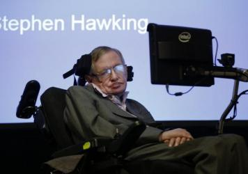 Professor Stephen Hawking in December.
