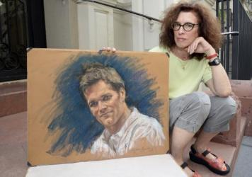 Courtroom artist Jane Rosenberg presents a more pleasant sketch of New England Patriots quarterback Tom Brad. An earlier sketch of Brady by Rosenberg caused a sensation on Twitter and beyond.