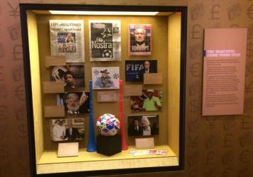 "The Mob Museum's new exhibit highlights the ""rampant corruption that plagues"" the world soccer governing body, FIFA. It opened Tuesday."