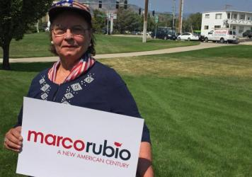 """Ann Bednarski said she came to a Nevada event with Rubio """"thinking he's too young."""" But after hearing him speak, she said he sounded like the """"boy next door"""" and that she would seriously consider him."""