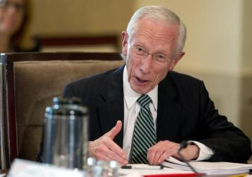 Federal Reserve Vice Chairman Stanley Fischer speaks during a Board of Governors of the Federal Reserve System meeting in July.