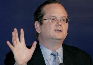 Harvard Law Professor Larry Lessig lists Facebook's Sheryl Sandberg and former <em>Daily Show </em>host Jon Stewart as possible running mates that visitors to his website can choose from.
