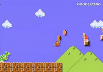 A screenshot of Nintendo's video commemorating Super Mario's the 30th anniversary.