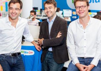 (From left to right) BlaBlaCar co-founders Nicolas Brusson, COO, Frédéric Mazzella, CEO, and Francis Nappez, CTO.