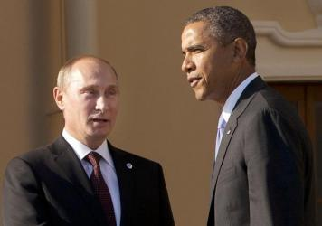 President Obama and Russian President Vladimir Putin at the G-20 summit in St. Petersburg, Russia, in 2013.