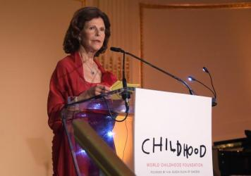 Queen Silvia of Sweden attends the World Childhood Foundation 16th anniversary gala Thursday in New York City.