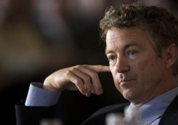 Kentucky Sen. Rand Paul's national polling numbers could cause him to miss the main stage at next month's CNBC GOP presidential debate. (AP Photo/Andrew A. Nelles)