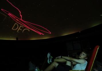 Lee Ann Hennig operates the planetarium at Thomas Jefferson High School. She's been teaching astronomy since 1969.