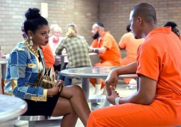 "Taraji P. Henson as Cookie Lyon and Terrence Howard as Lucious Lyon in the ""The Devils Are Here"" Season 2 premiere episode of <em>Empire</em>."