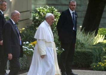 Pope Francis met with Rowan County, Ky., clerk Kim Davis at the Vatican Embassy in Washington last week. He's seen here leaving the embassy building on Thursday.
