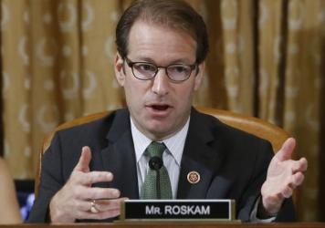 "Rep. Peter Roskam, R-Ill., is one of two ""names (that) keep cropping up in conversations with GOP members,"" wrote <em>National Review</em>."