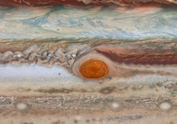 This new image from the largest planet in the Solar System, Jupiter, was made during the Outer Planet Atmospheres Legacy (OPAL) program.