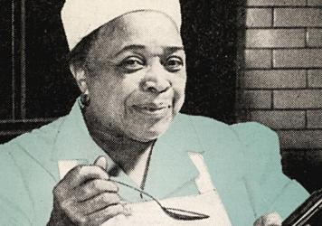 """Toni Tipton-Martin notes that the history of black food is not limited to """"cabin cooking."""" Lena Richard, for instance, was a restaurant head chef, catering company owner and cooking school operator. She self-published her cookbook in 1939; it was republi"""