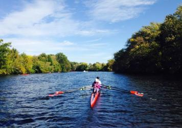 Kristina Gillis, seen in a two-person shell on the Charles River, hopes to show that rowers with intellectual disabilities like her can race in the challenging event.