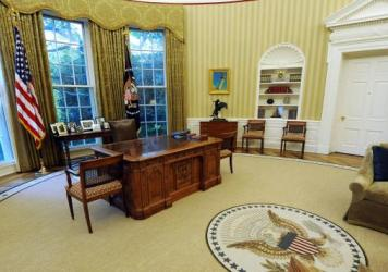 The Oval Office, not a corner office but pretty nice.