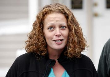 Nurse Kaci Hickox speaks to the media last year outside her home in Fort Kent, Maine. Hickox, who sharply protested being quarantined at a New Jersey hospital in 2014 after she returned from treating Ebola patients in West Africa, has filed a lawsuit aga