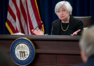 Janet Yellen, chair of the U.S. Federal Reserve, speaks during a news conference.