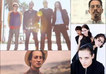 Clockwise from upper left: Weezer, J. Viewz, Savages, Marlon Williams