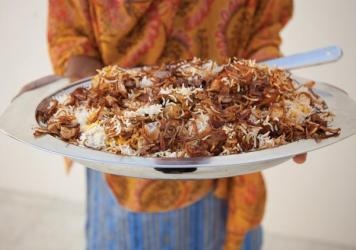 Muscat baker and former café owner Samar Al Khusaibi loves taking international recipes and using local flavors and ingredients to give them her own twist, as with this moist Bundt cake sweetened with dried dates.