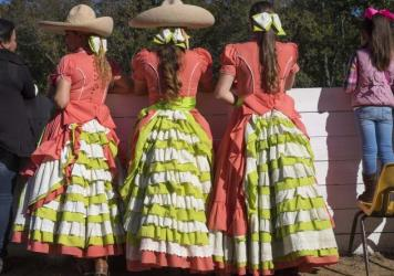 The Amazonas perform in the rodeo ring their family built in Catlett, Virginia.