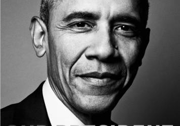 President Obama on the cover of <em>Out Magazine</em>.