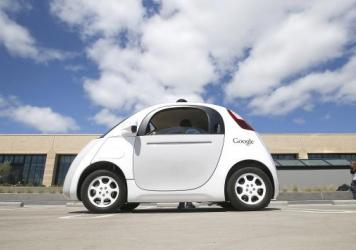 Google's self-driving prototype car can be found cruising the streets near the Internet company's Silicon Valley headquarters to test programming responses to a variety of situations.
