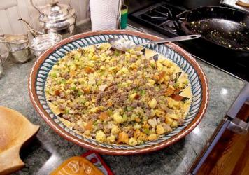 Anna Bertucci's Not Your Baba's (Vegetarian) Stuffing.