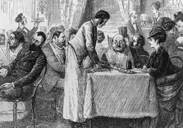 Imported from Europe, the custom of leaving gratuities began spreading in the U.S. post-Civil War. It was loathed as a master-serf custom that<strong> </strong>degraded America's democratic, anti-aristocratic ethic.