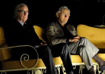 Michael Caine and Harvey Keitel star in <em>Youth</em> as the fictional composer Fred Ballinger and his filmmaker friend Mick Boyle.