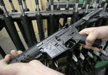Chicago suburb Highland Park banned the possession of what it called assault weapons, including AR-15s, like this one, and AK-47s, as well as large capacity magazines. Gun rights advocates challenged the ban, contending that it violated the Second Amendm