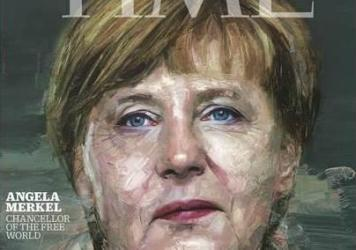 Angela Merkel on the cover of <em>Time</em> magazine.