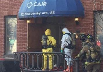 A hazardous-materials team entered the office of the Council on American-Islamic Relations Thursday, after the group received a suspicious item in the mail.