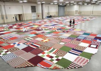 The world's largest stocking — stitched together from handmade blankets — was confirmed by  <em>Guinness World Records</em> this week.