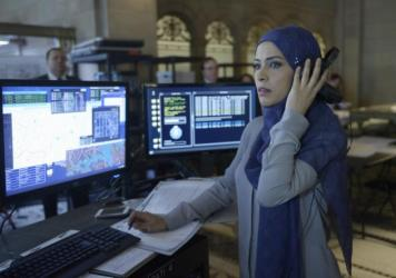 "Twin sisters Nimah and Raina Amin work out on ABC's ""Quantico."""
