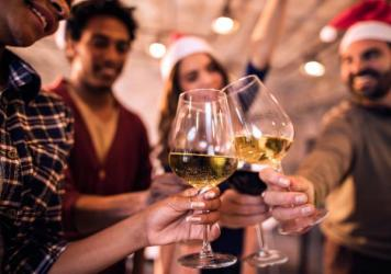 Drinking with co-workers can be festive — and fraught. In an informal survey of Salt readers, 25 percent of you told us you'd gotten tipsy enough to regret it at an office party, and 80 percent said you'd seen a co-worker overdo it, with embarrassing r