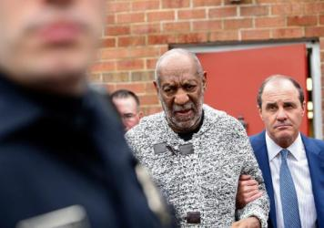 "Bill Cosby arrives Wednesday at the courthouse in Elkins Park, Pa., to face charges of aggravated indecent assault. Cosby was arraigned over an incident from 2004 --€"" the first criminal charge filed against the actor after dozens of women claimed abus"
