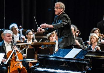 Osmo Vänskä conducts the Minnesota Orchestra in Havana, Cuba in May 2015.
