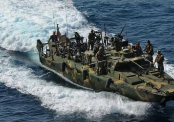 Two riverine command boats like this one were taken into custody by Iran, along with 10 U.S. sailors.