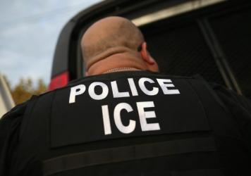 "A U.S. Immigration and Customs Enforcement agent detains an immigrant in October 2015. Though the Department of Homeland Security says it is looking for recent arrivals, criminals and people with deportation orders, that hasn't reassured immigrants like Giovanni. ""It's still scary,"" he says."